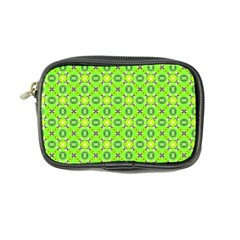 Vibrant Abstract Tropical Lime Foliage Lattice Coin Purse by DianeClancy