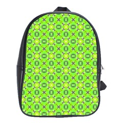 Vibrant Abstract Tropical Lime Foliage Lattice School Bags(large)  by DianeClancy