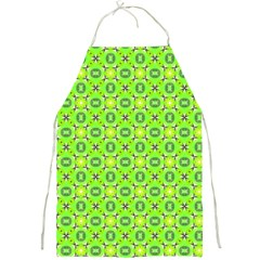 Vibrant Abstract Tropical Lime Foliage Lattice Full Print Aprons by DianeClancy