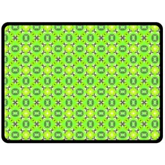 Vibrant Abstract Tropical Lime Foliage Lattice Fleece Blanket (large)  by DianeClancy