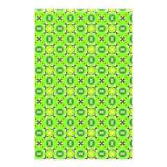 Vibrant Abstract Tropical Lime Foliage Lattice Shower Curtain 48  X 72  (small)  by DianeClancy