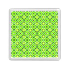 Vibrant Abstract Tropical Lime Foliage Lattice Memory Card Reader (square)  by DianeClancy