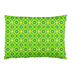 Vibrant Abstract Tropical Lime Foliage Lattice Pillow Case (two Sides) by DianeClancy