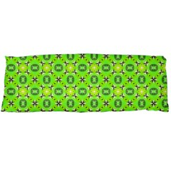 Vibrant Abstract Tropical Lime Foliage Lattice Body Pillow Case (dakimakura) by DianeClancy