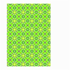 Vibrant Abstract Tropical Lime Foliage Lattice Small Garden Flag (two Sides) by DianeClancy