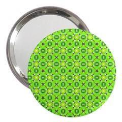 Vibrant Abstract Tropical Lime Foliage Lattice 3  Handbag Mirrors by DianeClancy