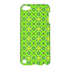 Vibrant Abstract Tropical Lime Foliage Lattice Apple Ipod Touch 5 Hardshell Case by DianeClancy