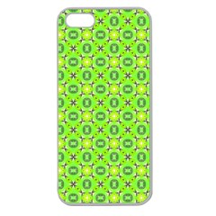 Vibrant Abstract Tropical Lime Foliage Lattice Apple Seamless Iphone 5 Case (clear) by DianeClancy
