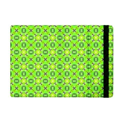 Vibrant Abstract Tropical Lime Foliage Lattice Apple Ipad Mini Flip Case by DianeClancy
