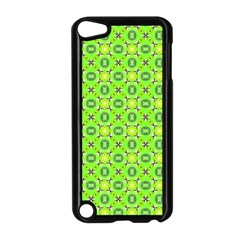 Vibrant Abstract Tropical Lime Foliage Lattice Apple Ipod Touch 5 Case (black) by DianeClancy