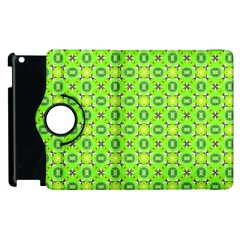 Vibrant Abstract Tropical Lime Foliage Lattice Apple Ipad 2 Flip 360 Case by DianeClancy