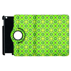 Vibrant Abstract Tropical Lime Foliage Lattice Apple Ipad 3/4 Flip 360 Case by DianeClancy