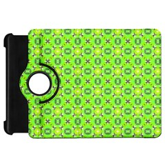 Vibrant Abstract Tropical Lime Foliage Lattice Kindle Fire Hd Flip 360 Case by DianeClancy