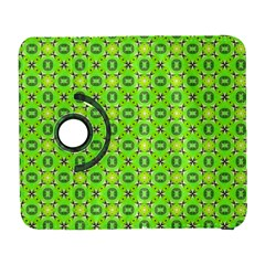 Vibrant Abstract Tropical Lime Foliage Lattice Samsung Galaxy S  Iii Flip 360 Case by DianeClancy