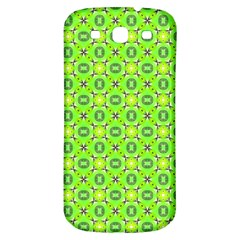 Vibrant Abstract Tropical Lime Foliage Lattice Samsung Galaxy S3 S Iii Classic Hardshell Back Case by DianeClancy