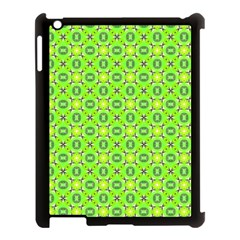 Vibrant Abstract Tropical Lime Foliage Lattice Apple Ipad 3/4 Case (black) by DianeClancy