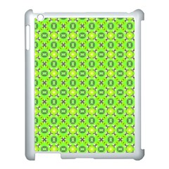 Vibrant Abstract Tropical Lime Foliage Lattice Apple Ipad 3/4 Case (white) by DianeClancy