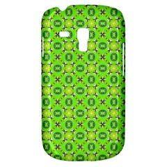 Vibrant Abstract Tropical Lime Foliage Lattice Samsung Galaxy S3 Mini I8190 Hardshell Case by DianeClancy