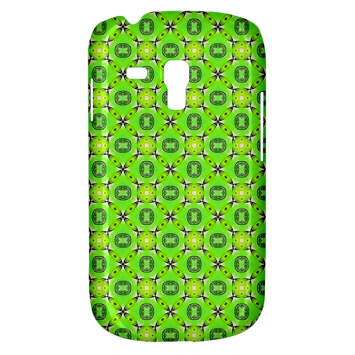 Vibrant Abstract Tropical Lime Foliage Lattice Samsung Galaxy S3 MINI I8190 Hardshell Case