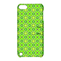 Vibrant Abstract Tropical Lime Foliage Lattice Apple Ipod Touch 5 Hardshell Case With Stand by DianeClancy