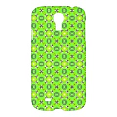 Vibrant Abstract Tropical Lime Foliage Lattice Samsung Galaxy S4 I9500/i9505 Hardshell Case by DianeClancy