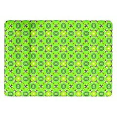 Vibrant Abstract Tropical Lime Foliage Lattice Samsung Galaxy Tab 10 1  P7500 Flip Case by DianeClancy