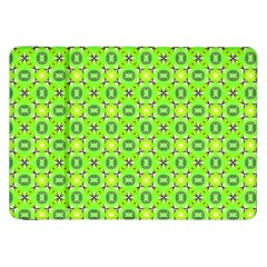 Vibrant Abstract Tropical Lime Foliage Lattice Samsung Galaxy Tab 8 9  P7300 Flip Case by DianeClancy