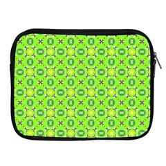 Vibrant Abstract Tropical Lime Foliage Lattice Apple Ipad 2/3/4 Zipper Cases by DianeClancy