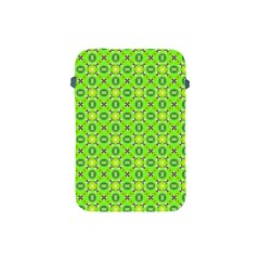Vibrant Abstract Tropical Lime Foliage Lattice Apple Ipad Mini Protective Soft Cases by DianeClancy