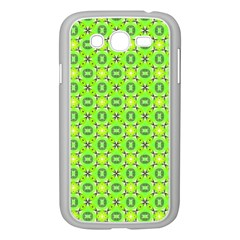 Vibrant Abstract Tropical Lime Foliage Lattice Samsung Galaxy Grand Duos I9082 Case (white) by DianeClancy