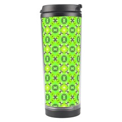 Vibrant Abstract Tropical Lime Foliage Lattice Travel Tumblers by DianeClancy