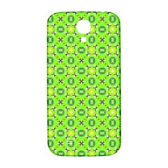 Vibrant Abstract Tropical Lime Foliage Lattice Samsung Galaxy S4 I9500/i9505  Hardshell Back Case by DianeClancy