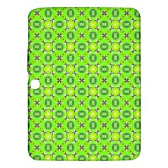 Vibrant Abstract Tropical Lime Foliage Lattice Samsung Galaxy Tab 3 (10 1 ) P5200 Hardshell Case  by DianeClancy