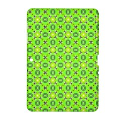 Vibrant Abstract Tropical Lime Foliage Lattice Samsung Galaxy Tab 2 (10 1 ) P5100 Hardshell Case  by DianeClancy