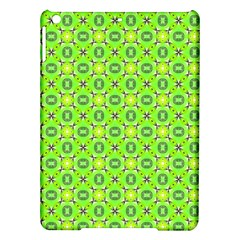 Vibrant Abstract Tropical Lime Foliage Lattice Ipad Air Hardshell Cases by DianeClancy