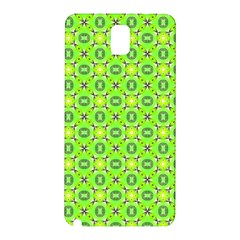 Vibrant Abstract Tropical Lime Foliage Lattice Samsung Galaxy Note 3 N9005 Hardshell Back Case by DianeClancy