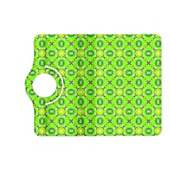 Vibrant Abstract Tropical Lime Foliage Lattice Kindle Fire Hd (2013) Flip 360 Case by DianeClancy