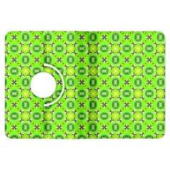 Vibrant Abstract Tropical Lime Foliage Lattice Kindle Fire Hdx Flip 360 Case by DianeClancy