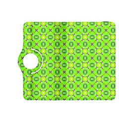 Vibrant Abstract Tropical Lime Foliage Lattice Kindle Fire Hdx 8 9  Flip 360 Case by DianeClancy