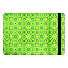 Vibrant Abstract Tropical Lime Foliage Lattice Samsung Galaxy Tab Pro 10 1  Flip Case by DianeClancy