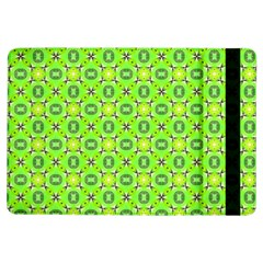 Vibrant Abstract Tropical Lime Foliage Lattice Ipad Air Flip by DianeClancy
