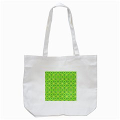 Vibrant Abstract Tropical Lime Foliage Lattice Tote Bag (white) by DianeClancy