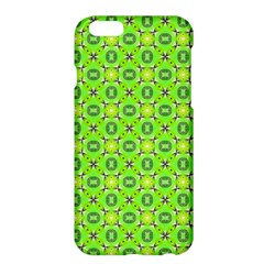 Vibrant Abstract Tropical Lime Foliage Lattice Apple Iphone 6 Plus/6s Plus Hardshell Case by DianeClancy
