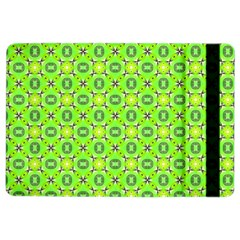 Vibrant Abstract Tropical Lime Foliage Lattice Ipad Air 2 Flip by DianeClancy