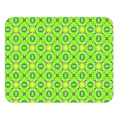 Vibrant Abstract Tropical Lime Foliage Lattice Double Sided Flano Blanket (large)  by DianeClancy
