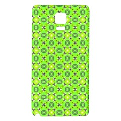 Vibrant Abstract Tropical Lime Foliage Lattice Galaxy Note 4 Back Case by DianeClancy