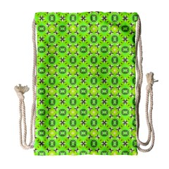 Vibrant Abstract Tropical Lime Foliage Lattice Drawstring Bag (large) by DianeClancy