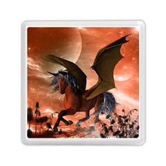 Wonderful Dark Unicorn In The Night Memory Card Reader (Square)  by FantasyWorld7