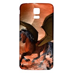 Wonderful Dark Unicorn In The Night Samsung Galaxy S5 Back Case (white) by FantasyWorld7