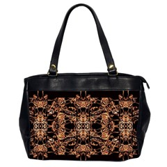 Dark Ornate Abstract  Pattern Office Handbags (2 Sides)  by dflcprints